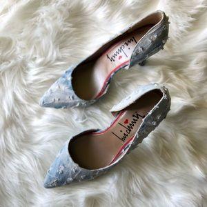 (SALE) Denim Distressed Pump Heels Stilettos Sz 11